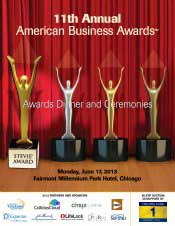 June 2013 American Business Awards Program