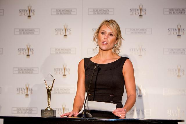 Gewinnerin der 2014 Stevie Awards for Women in Business