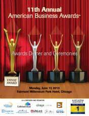 June 2013 American Business Awards Program