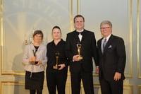 Fauth Gundlach & Hübl bei der Preisverleihung 2018