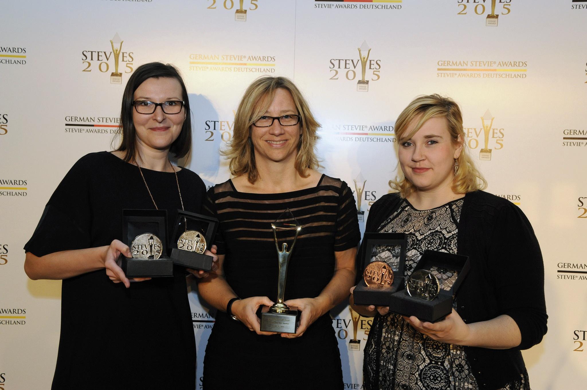 Weber Shandwick, Gewinner der Management Awards bei den 1. German Stevie Awards 2015