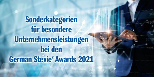 Neu für 2021: Die Kategorien für besondere Unternehmensleistungen