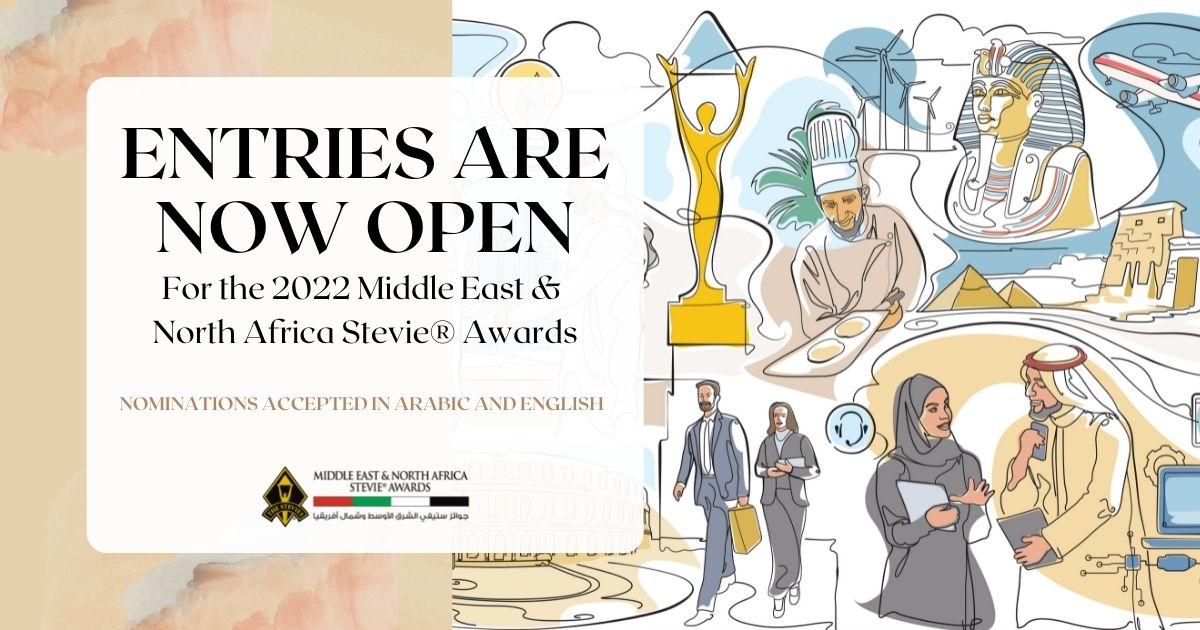 Call for Entries Issued for the 2022 Middle East & North Africa Stevie® Awards