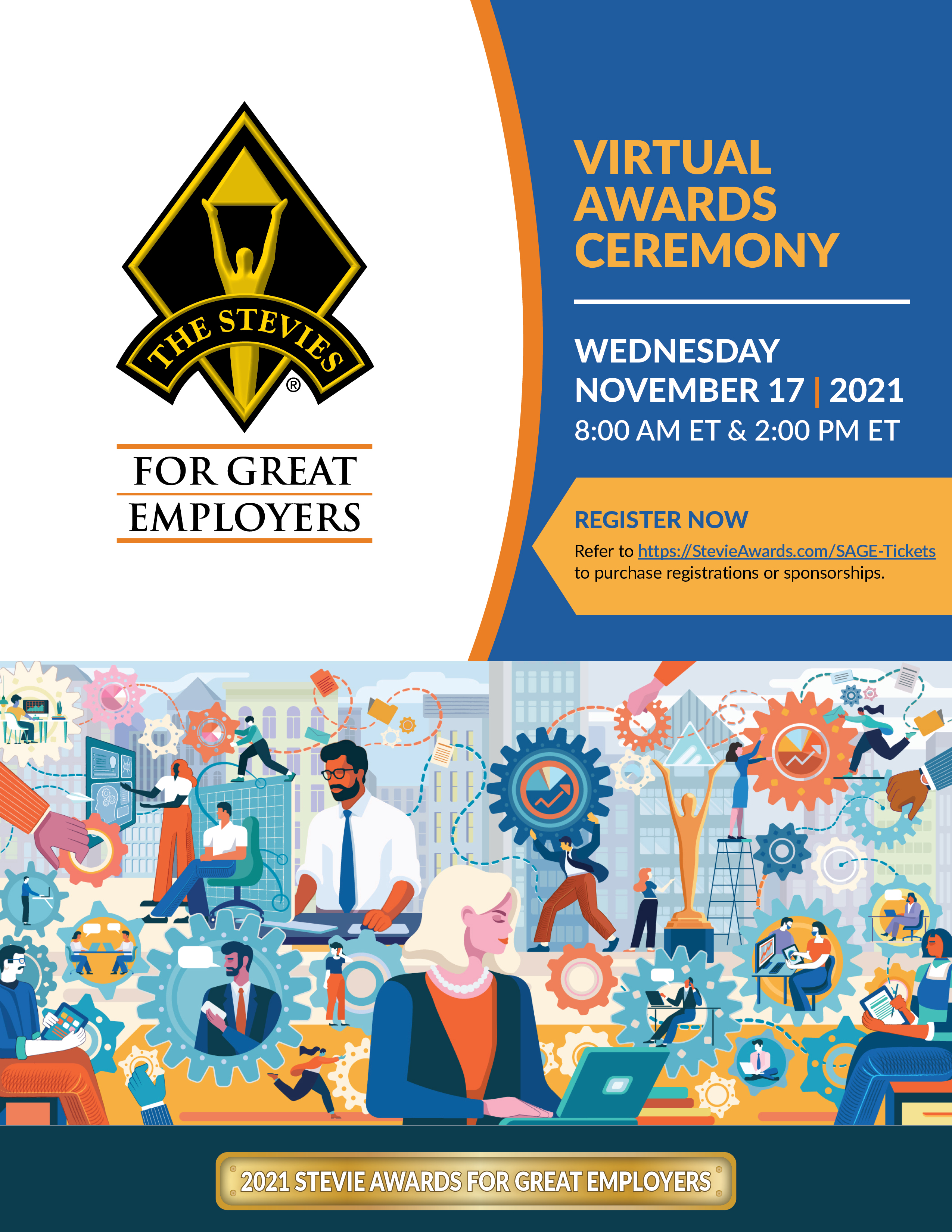 Attend the SAGE21 virtual awards ceremony
