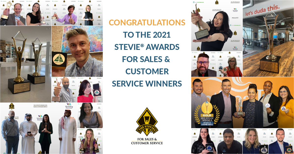 15th Annual Stevie Awards for Sales & Customer Service Winners Honored in Virtual Ceremony